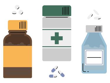 色々な薬・薬のボトル イラストセット