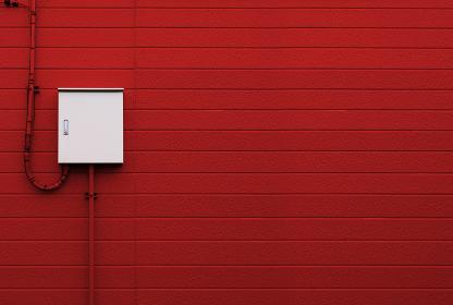 制御盤 電気メーター 赤い壁 3281