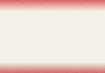 和風和柄背景ベクターデータ|シームレス伝統模様 青海波(せいがいは)横上下帯|赤系