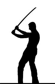 武道系中年男性シルエット