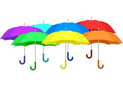 傘 七色 一列