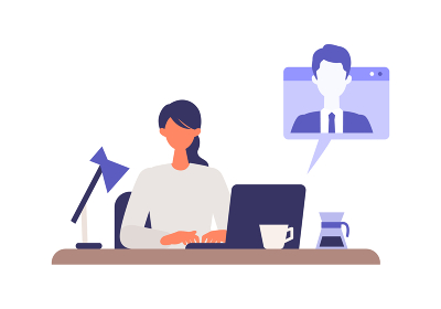 職場、自宅でパソコンを使用するビジネスウー