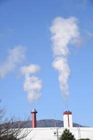 ゴミ焼却場の噴煙
