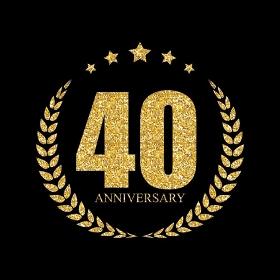 Template 40 Years Anniversary Vector Illustration EPS10. Template 40 Years Anniversary Vector Illustration