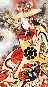 浮世絵 女性 その42 水彩