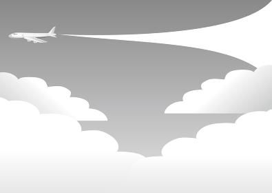 飛行機 トラベル 旅行 背景 イラスト