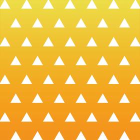 三角模様 オレンジ×黄 グラデーション