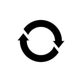 ベクターアイコンイラスト / サイクル リサイクル リロード エコ