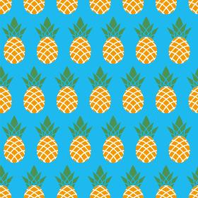 シームレスのパイナップルのイラストの連続柄|夏のイメージ|ファブリック・テキスタイル