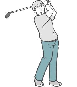 ゴルフ 男性 若い男性