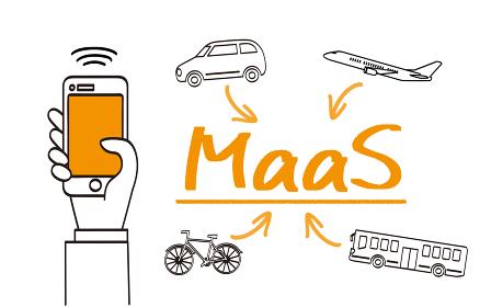 MaaS、マースの手書きイメージ