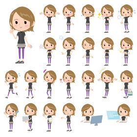 Short hair women Sportswear_emotion