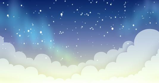 背景素材 夜空 夜明け 雲 風景 星