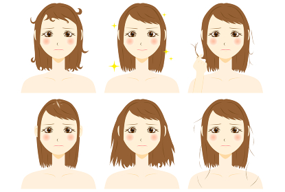 髪のトラブル 女性