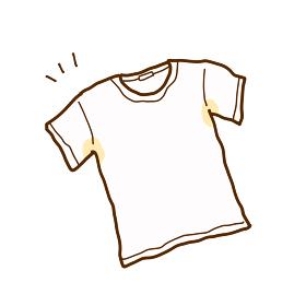 脇に汗染みが出来たTシャツのイラスト