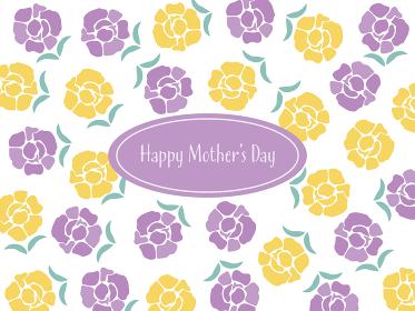 母の日のカーネーションとHappy Mother's Day