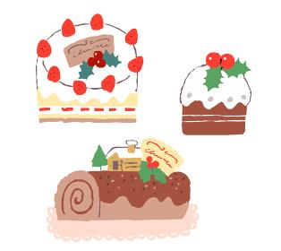 クリスマスケーキ 3種
