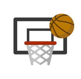 バスケットボール・スポーツ ベクターカラーアイコン