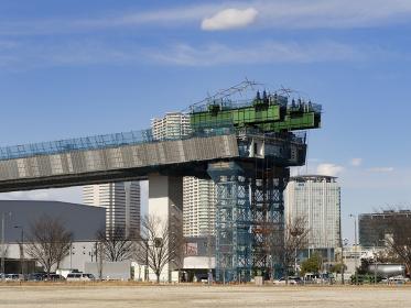 首都高速の建設工事