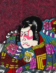浮世絵 歌舞伎役者 その37 油絵バージョン