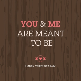 Valentines day card. Love quote 01.
