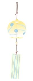 黄色い風鈴のイラスト
